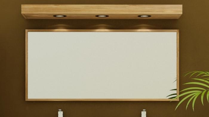 achat grand miroir rectangulaire de salle de bain en teck. Black Bedroom Furniture Sets. Home Design Ideas