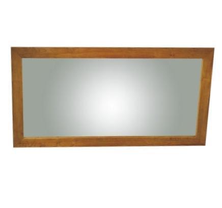 grand miroir rectangulaire en teck bois exotique. Black Bedroom Furniture Sets. Home Design Ideas