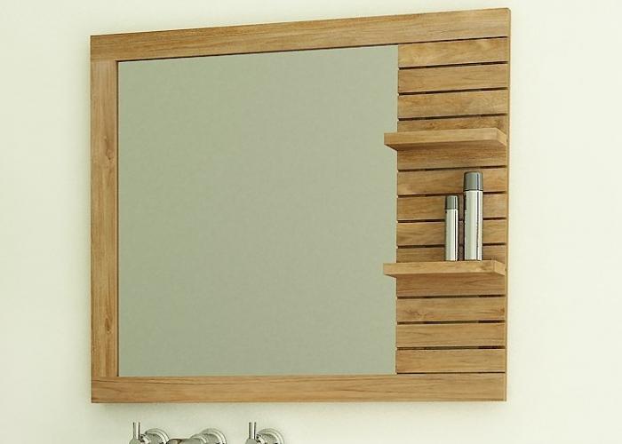 Acheter miroir en teck rectangulaire walk l130 miroir for Miroir en longueur