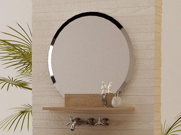 Acheter miroir en teck rectangulaire walk l130 miroir for Miroir rond 70 cm