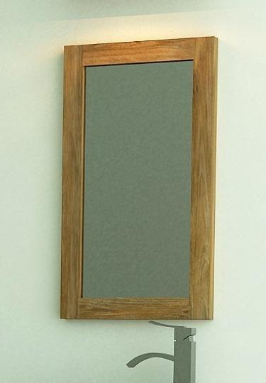Achat vente miroir rectangulaire 40x65 en teck salle de bain for Miroir achat