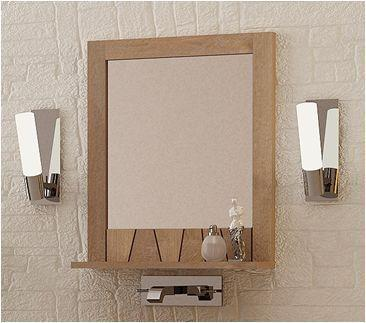 Acheter Miroir en teck salle de bain L60 - Miroir - Salon ...