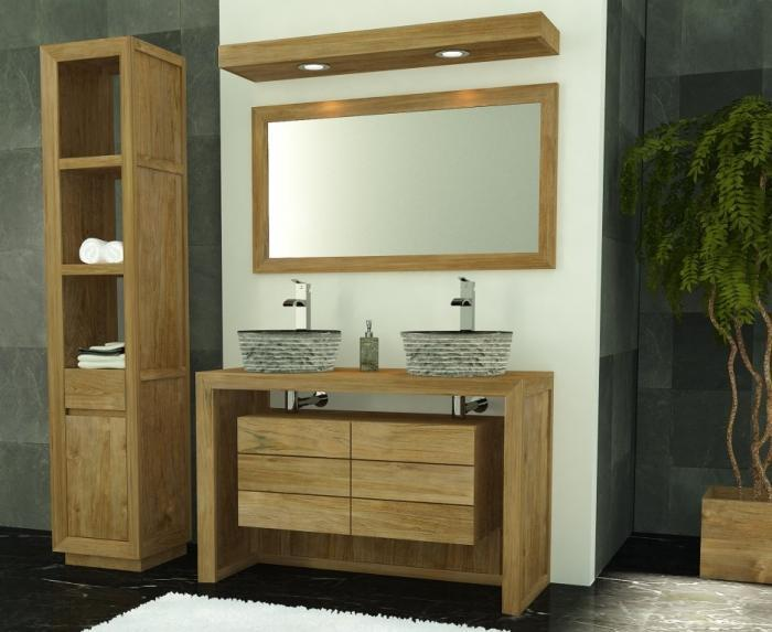 achat vente meuble salle de bain groix 120. Black Bedroom Furniture Sets. Home Design Ideas