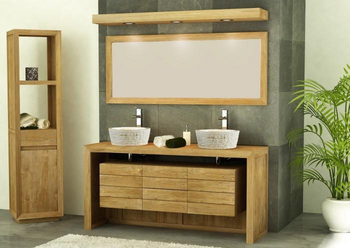Achat vente meuble salle de bain groix 140 for Meuble salle de bain 1 tiroir