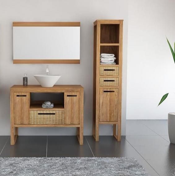 achat vente meuble salle de bain teck samba. Black Bedroom Furniture Sets. Home Design Ideas