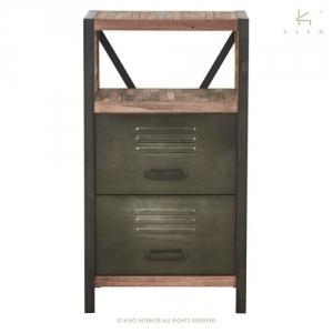 Buffet en teck mobilier de rangement pour salon et s jour for Petit buffet industriel