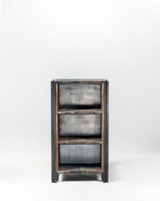 vente petite tag re 60 cm en bois recycl et m tal pour. Black Bedroom Furniture Sets. Home Design Ideas