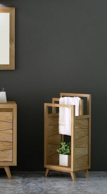 achat porte serviettes en teck pour votre salle de bain choisissez la chaleur du bois. Black Bedroom Furniture Sets. Home Design Ideas