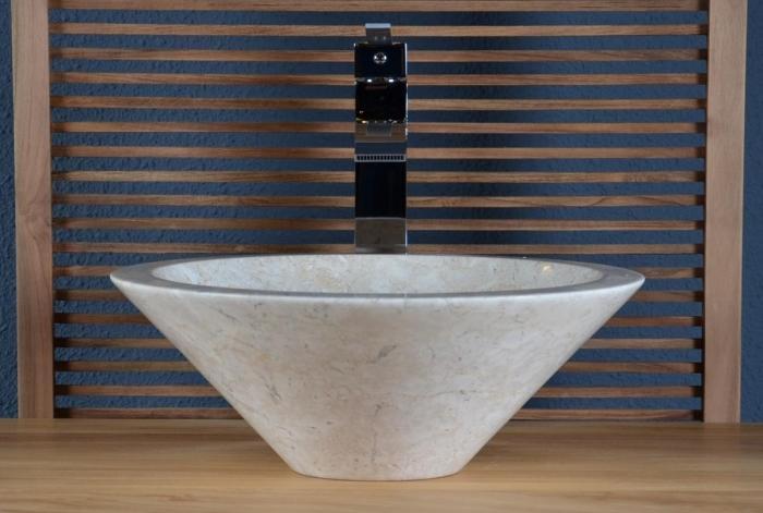 Achat Vasque à poser en marbre beige Sanur - WALK - Vasque de salle ...