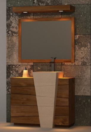 Achat / Meuble de salle de bain Rhodes WALK - Meuble en teck - Salle ...