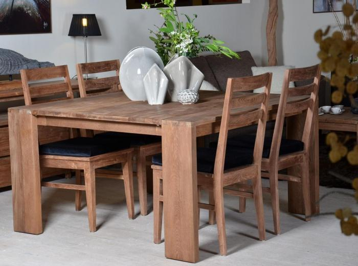 vente table en teck dbodhi carree gamme fissure table salon salle manger. Black Bedroom Furniture Sets. Home Design Ideas