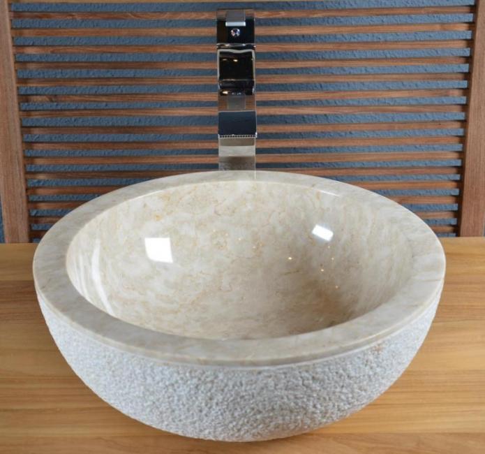 Vente Vasque En Marbre Crozon - Walk - Vasque De Salle De Bain En