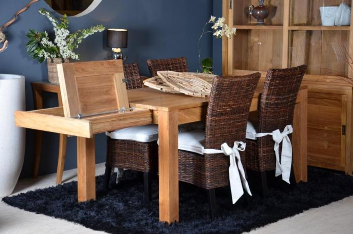 table de salle manger avec rallonge 12 personnes. Black Bedroom Furniture Sets. Home Design Ideas
