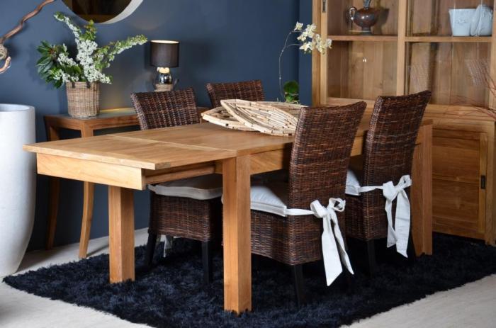 vente table 12 personnes en teck rectangulaire 2. Black Bedroom Furniture Sets. Home Design Ideas