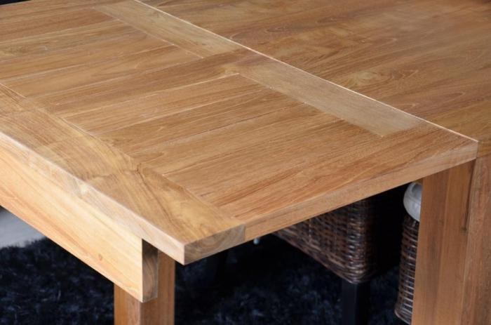 Vente table 12 personnes en teck rectangulaire 2 - Table salle a manger teck ...