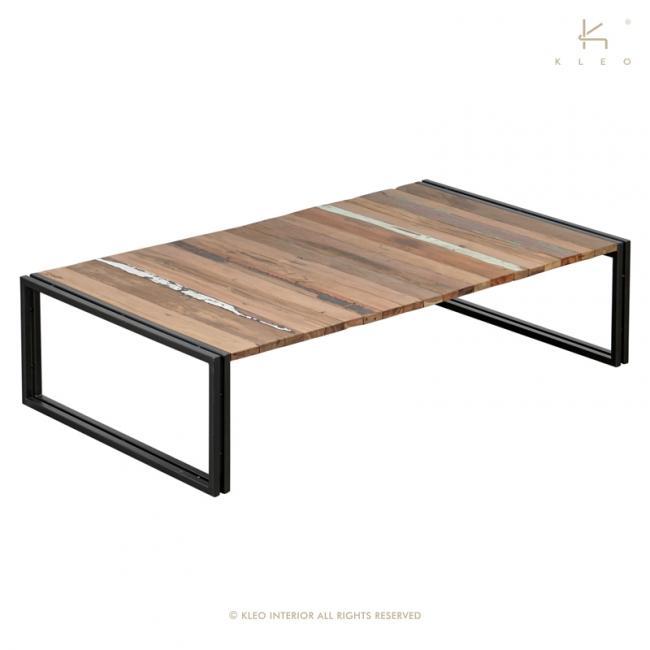 achat table basse industrielle en m tal et bois recycl grande table basse rectangulaire 140 cm. Black Bedroom Furniture Sets. Home Design Ideas