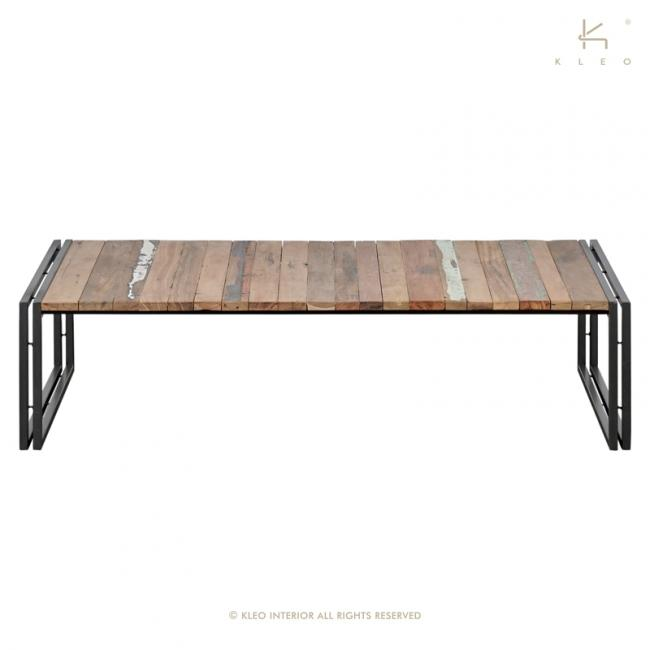 achat table basse industrielle en m tal et bois recycl grande table basse rectangulaire 140 cm. Black Bedroom Furniture Sets. Home Design Ideas