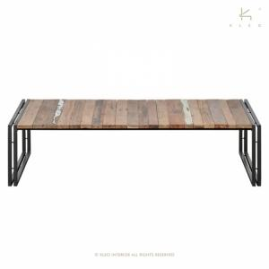 Table basse industrielle rectangulaire 1 plateau EVASION 140 cm x 70 cm