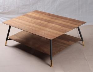 table basse en teck ronde ou rectangulaire pour le salon. Black Bedroom Furniture Sets. Home Design Ideas