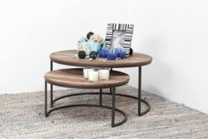 Table basse ronde gigogne d-Bodhi
