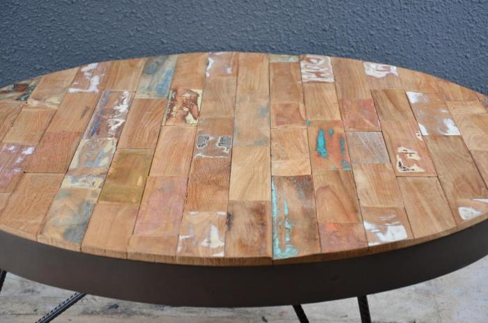 Vente table basse dbodhi street art table salon - Table basse ronde industrielle ...