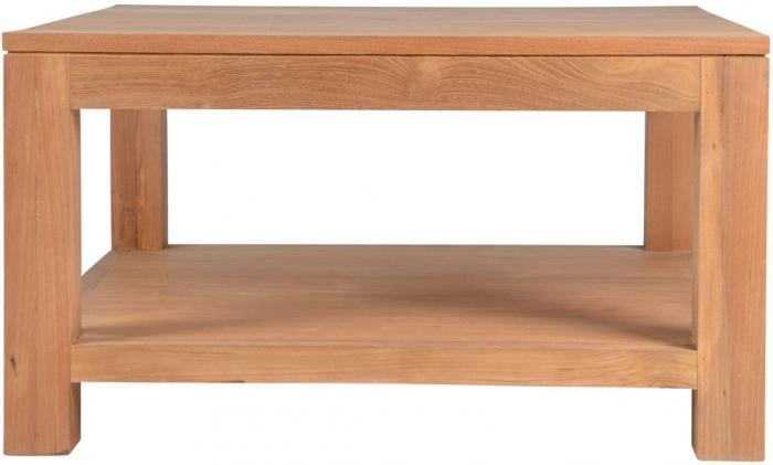 Table basse teck carr e table basse salon salle manger - Table basse carree teck ...