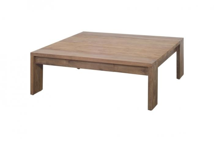 Table basse teck Dbodhi carrée Fissure 100