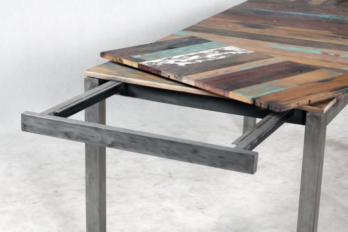 Achat Table Rectangulaire 180 Cm Avec 2 Allonges Une Table