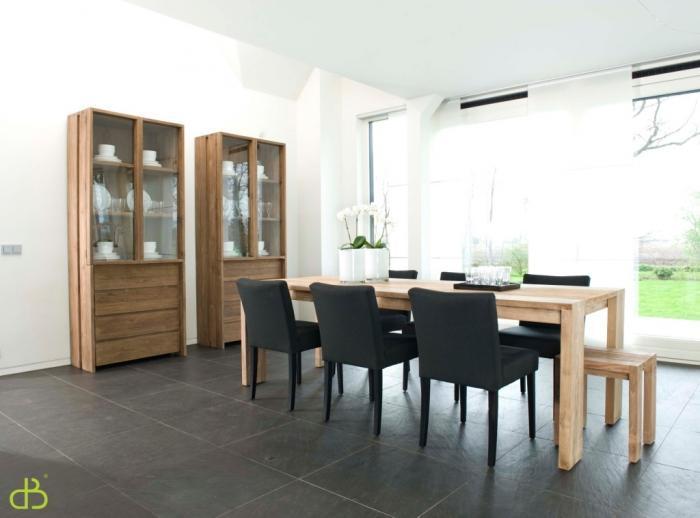 table en teck salle a manger. Black Bedroom Furniture Sets. Home Design Ideas