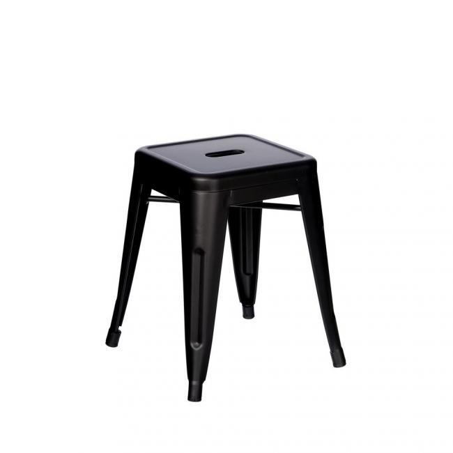 Achat tabouret métal couleur noire style industriel. Hauteur d ...