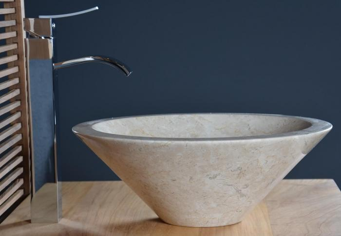 achat vasque poser en marbre beige sanur walk vasque. Black Bedroom Furniture Sets. Home Design Ideas