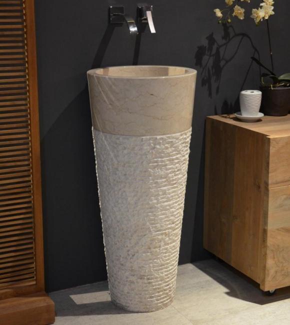 vasque colonne en marbre vasque piedestal en marbre beige. Black Bedroom Furniture Sets. Home Design Ideas