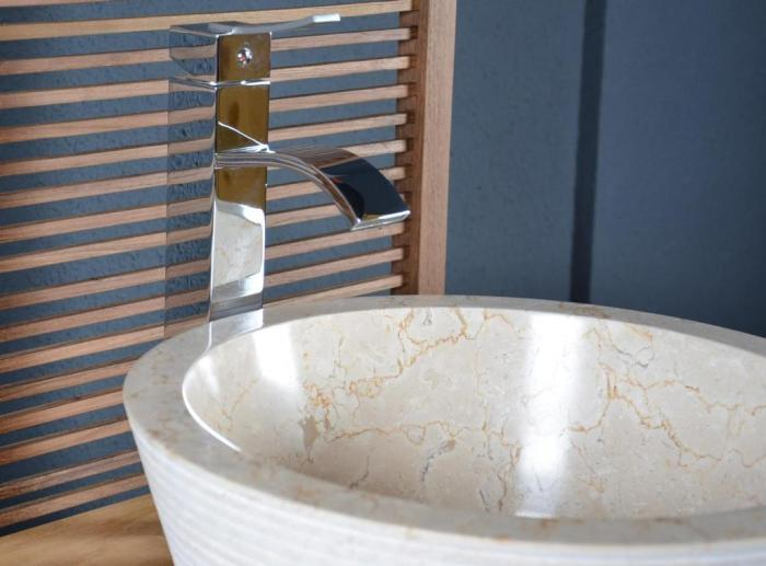 vasque beige salle de bain Vasque en marbre beige à poser Audierne