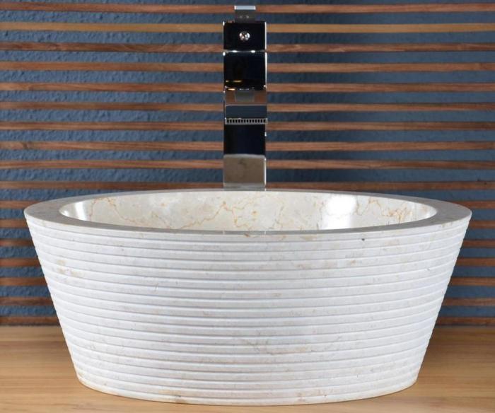 Vente vasque en marbre audierne walk vasque de salle for Creer une salle de bain prix