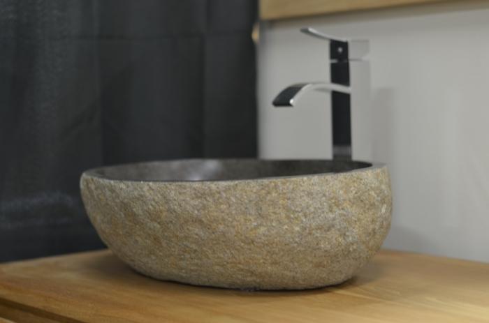 vasque galet Vasque pierre Galet de rivière Diamètre 30 - 40 cm