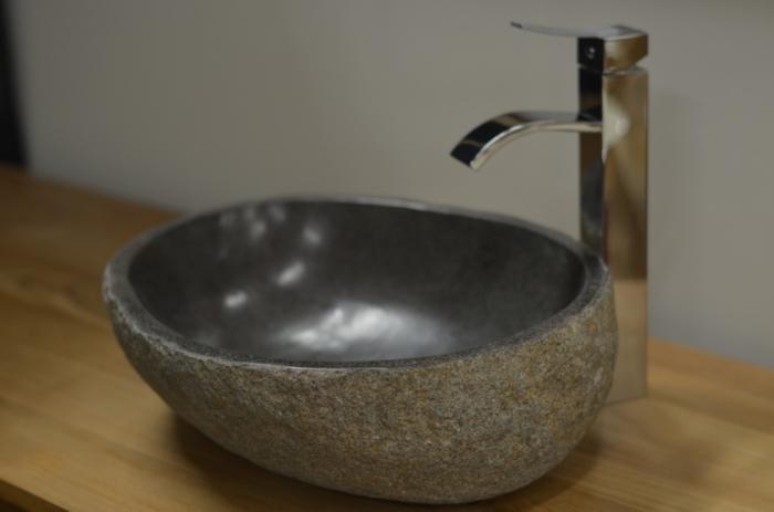 vasque a poser pierre de riviere Vasque pierre Galet de rivière Diamètre 30 - 40 cm