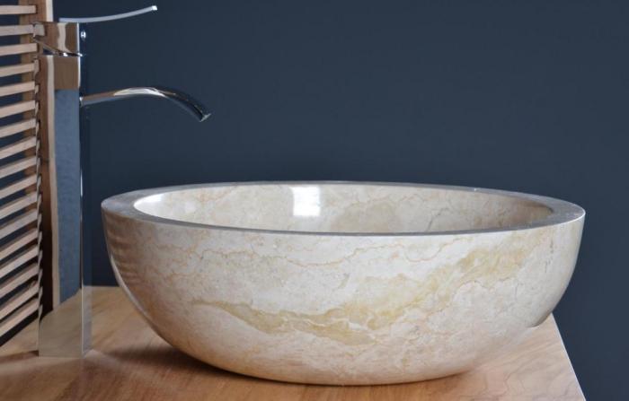Vente vasque salle de bain en marbre beige ibiza walk - Photos vasque salle de bain ...