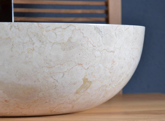 vente vasque salle de bain en marbre beige ibiza walk vasque de salle de bain en marbre ou. Black Bedroom Furniture Sets. Home Design Ideas