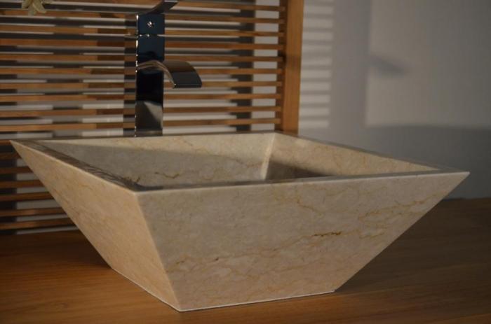 Vente vasque salle de bain en marbre noir lorena vasque - Taille vasque salle de bain ...