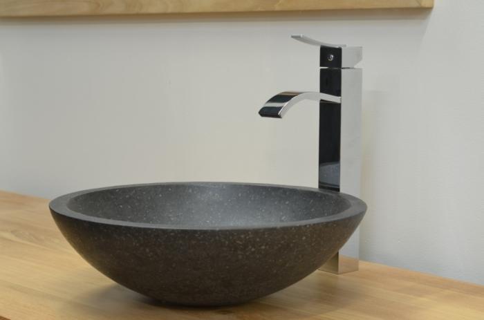 vasque terrazzo ronde vasque poser en terrazzo de. Black Bedroom Furniture Sets. Home Design Ideas