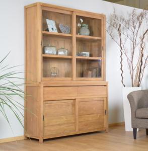 vitrine et vaisselier en teck grand meuble de rangement. Black Bedroom Furniture Sets. Home Design Ideas