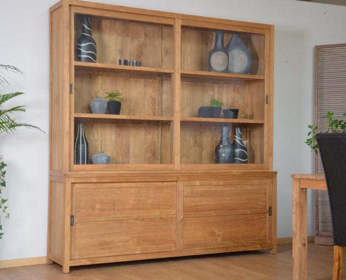 achat vente vitrine teck 2 m tres. Black Bedroom Furniture Sets. Home Design Ideas